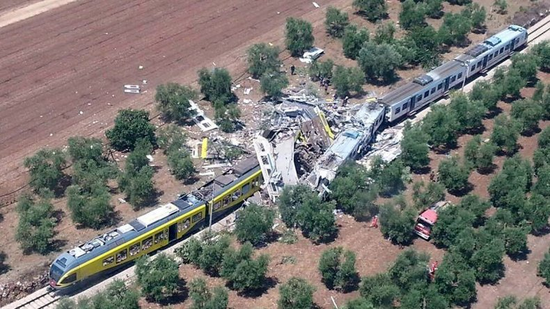 Trágico accidente ferroviario en Italia.