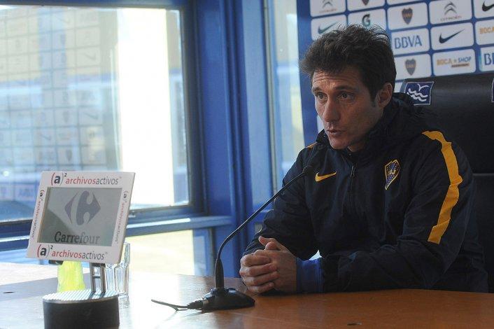 Guillermo Barros Schelotto durante la conferencia de prensa que brindó ayer en Casa Amarilla.
