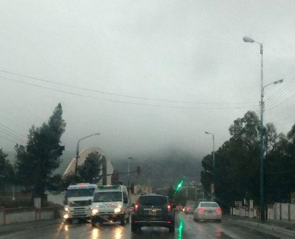 Comodoro, envuelta en neblina: precaución al transitar