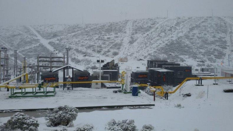El Trebol también se cubrió de nieve.