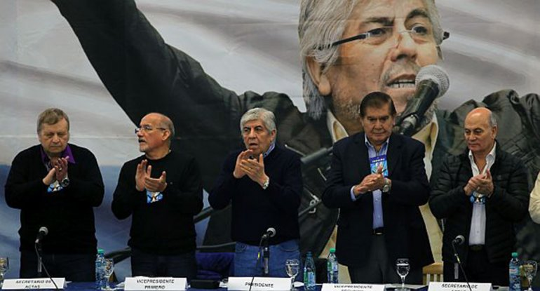 Moyano encabezó el congreso de la CGT Azopardo en Ferro.