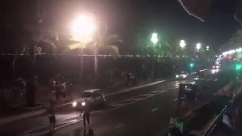 Así fue el momento del atentado en Niza