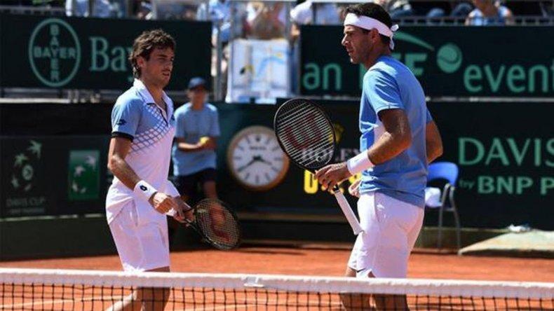 Argentina ganó en dobles y supera a Italia en la serie