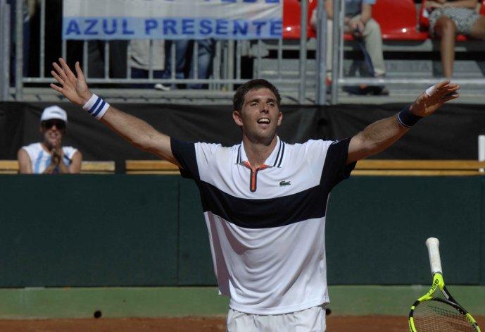 Federico Delbonis fue clave para la clasificación argentina al ganar dos puntos.