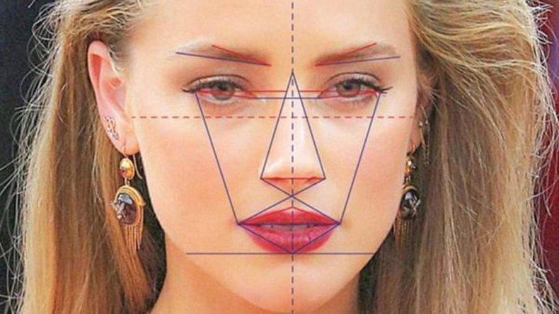 La máscara de que es aplicada en los rostros para conocer las proporciones perfectas.