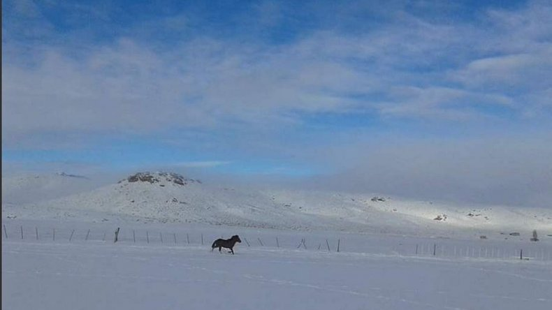 Se declaró el alerta naranja en la meseta por las intensas nevadas