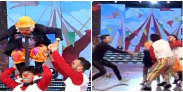 Tinelli hizo un truco con el Bicho Gómez ¡y terminó en el piso!