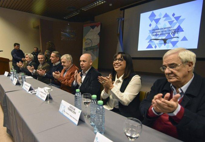 La apertura del encuentro ayer en Puerto Madryn.