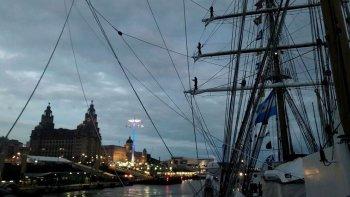 La Fragata Libertad ancló en el Reino Unido tras 14 años