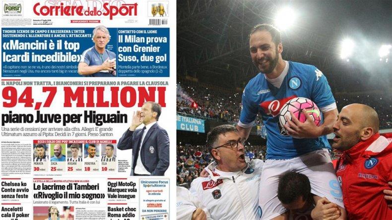 Higuaín, uno de los más caros de la historia: Juventus pagaría más de 100 millones de dólares