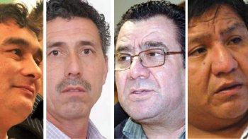 Carlos Martínez, Albino Kruger, Mario Mansilla y Jorge Avila.