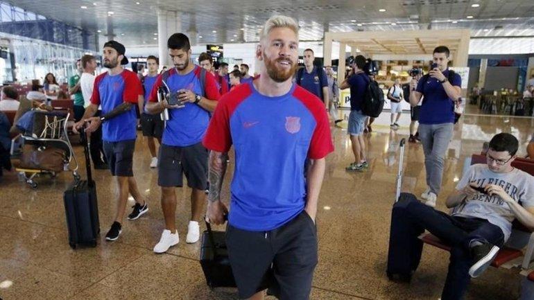 Messi se sumó a la pretemporada del Barcelona