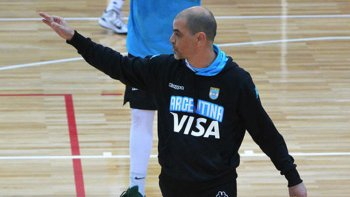 Sergio Hernández, DT de la selección argentina de básquetbol.