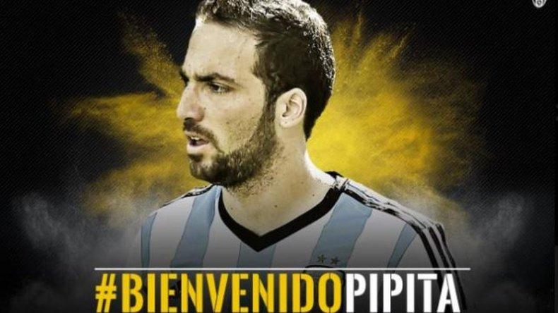 Juventus oficializó la llegada de Higuaín por más de 90 millones