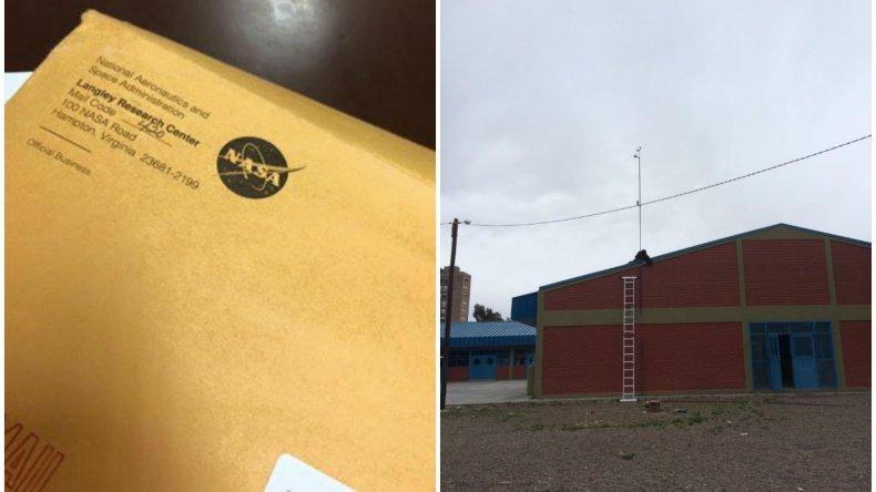 Instalaron una estación meteorológica en la escuela