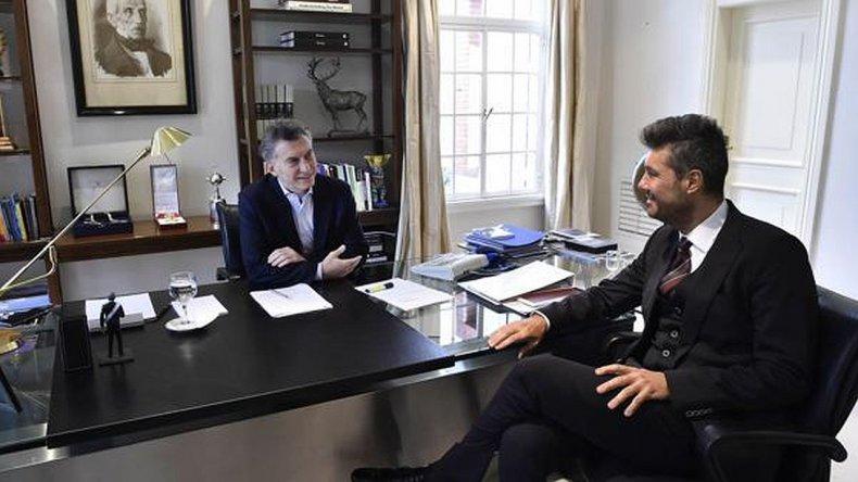 Macri  recibió a Tinelli en Olivos