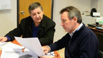Pagani y Boyero ayer en el municipio, repasando las obras que hay que hacer en Comodoro.