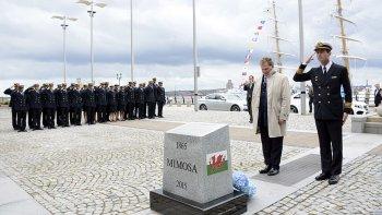 La Fragata Libertad homenajeó en Liverpool a los galeses