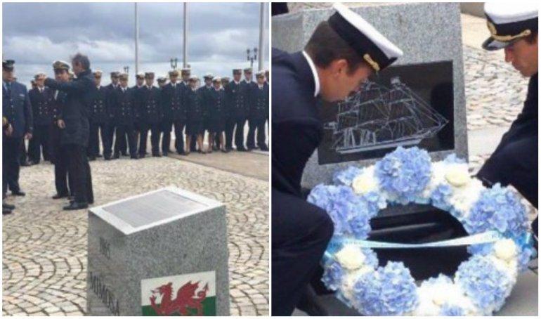La Fragata Libertad homenajeó en Liverpool a los galeses que llegaron a Chubut