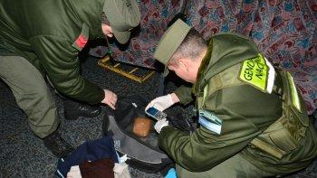 secuestraron marihuana y cocaina de un bolso abandonado en la terminal