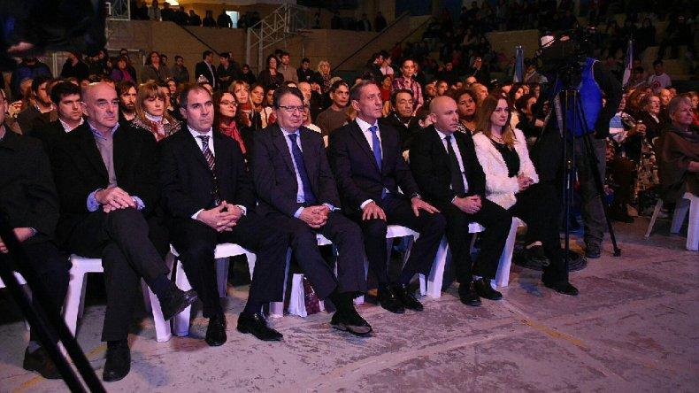 El acto con que se conmemoró el aniversario de Puerto Madryn.