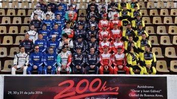 Los 29 protagonistas de los 200 Km de Buenos Aires que comenzaron ayer con los entrenamientos para los invitados.
