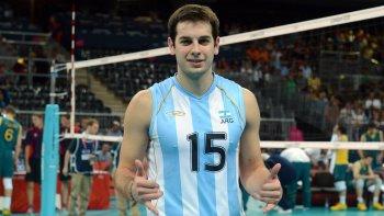 Ricardo De Cecco, capitán de la selección argentina de vóleibol que se prepara para los Juegos Olímpicos.