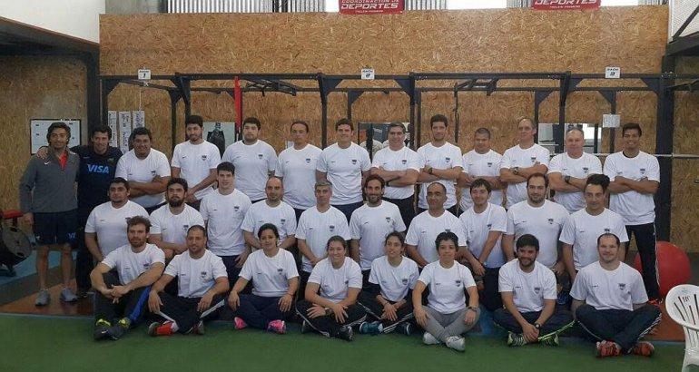 Los preparadores físicos que formaron parte de la capacitación en Trelew.