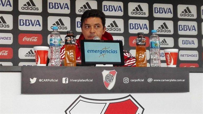 Marcelo Gallardo confirmará recién hoy los once para el partido de mañana por Copa Argentina ante Sportivo Rivadavia de Venado Tuerto.