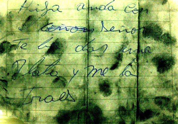 Pericia documentológica en el caso Pallalaf. Ghiberto determinó que la nota hallada en el barrio 30 de Octubre fue escrita por el violador serial ahora condenado a perpetua.