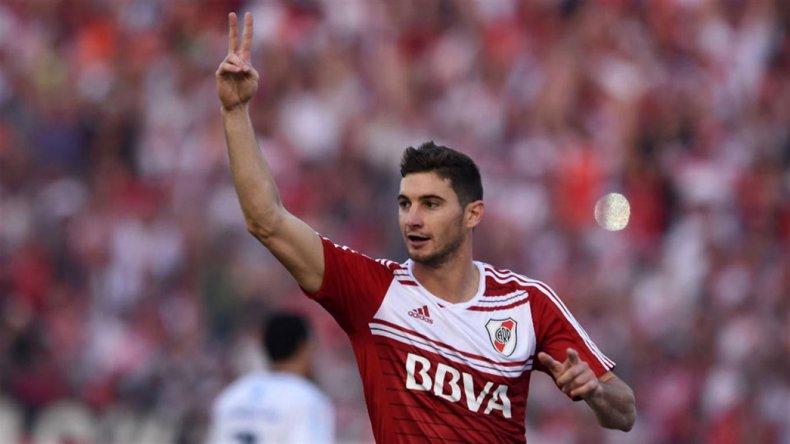 Lucas Alario abrió la cuenta ayer en la victoria de River sobre Sportivo Rivadavia de Venado Tuerto.