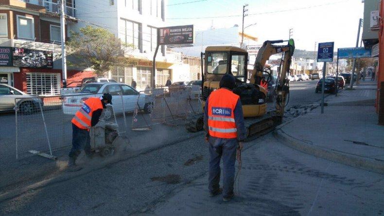 Los trabajos de reparación de badenes comenzaron el sábado en inmediaciones de Alvear y Aristóbulo del Valle y tiene previsto extenderse en ese sector por diez días.