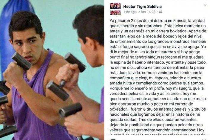 El Tigre Saldivia anunció su retiro del boxeo profesional