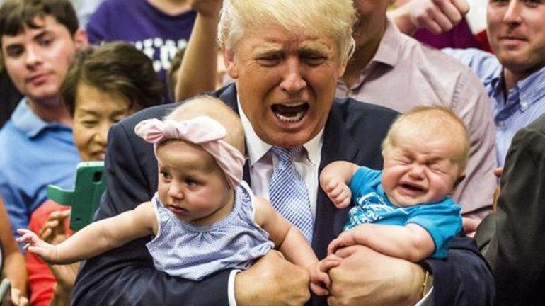 Donald Trump echó a una madre y a su bebé de un acto porque lloraba