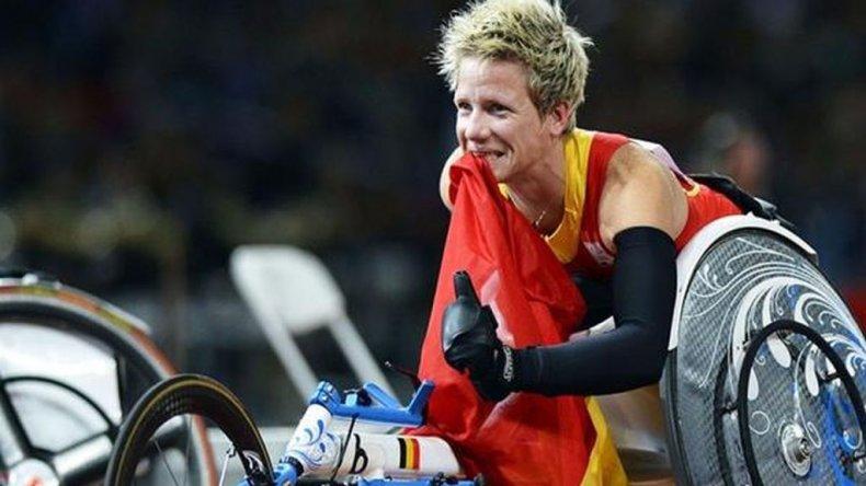 Bajo la modalidad paralímpica, la atleta belga obtuvo tres medallas