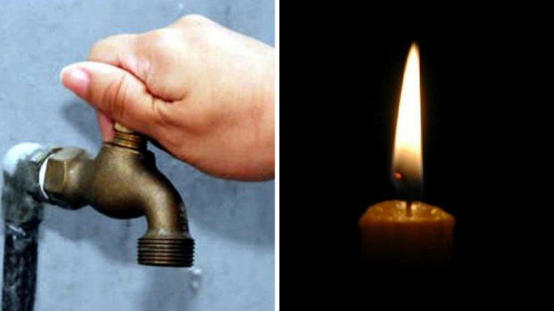 Sin agua en Zona Norte y sin luz en Sur y RadaTilly