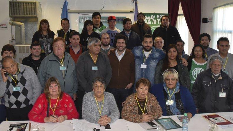 Representantes de centros de jubilados de ATE de Santa Cruz