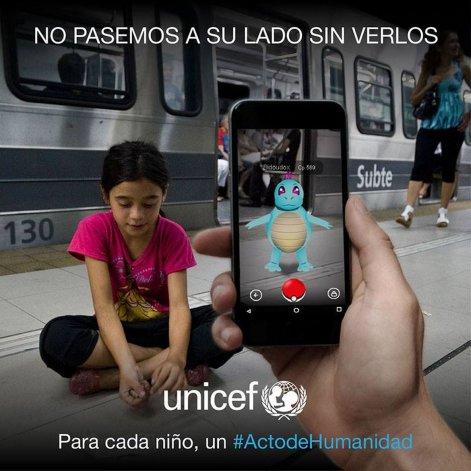 Pokémon Go: Unicef y su campaña de concientización