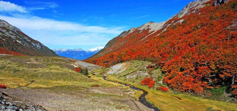 En otoño es sin duda cuando el Cajón Negro despliega sus más lindos paisajes por la coloración de su vegetación.