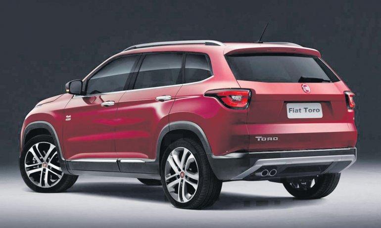 Cómo sería la Fiat Toro SUV con  capacidad para siete pasajeros