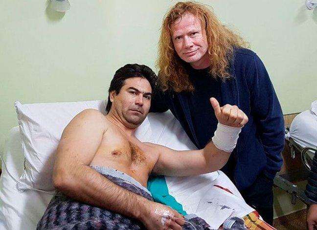 Comodorense apuñalado en recital de Megadeth conoció al líder de la banda