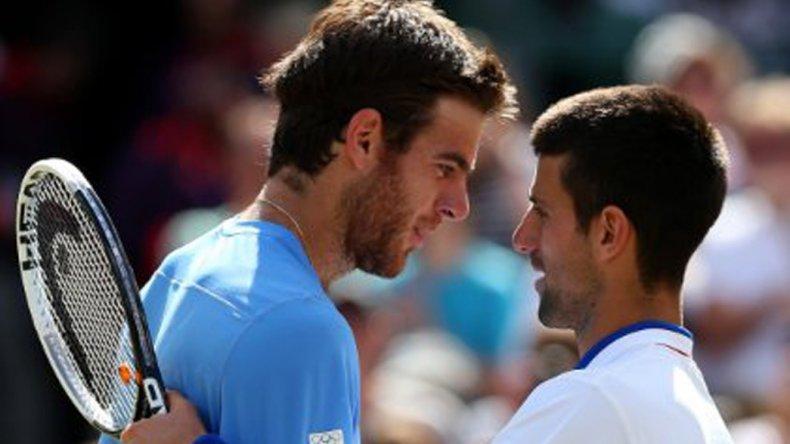 Juan Martín Del Potro y Novak Djokovic volverán a verse en un Juego Olímpico como hace cuatro años.