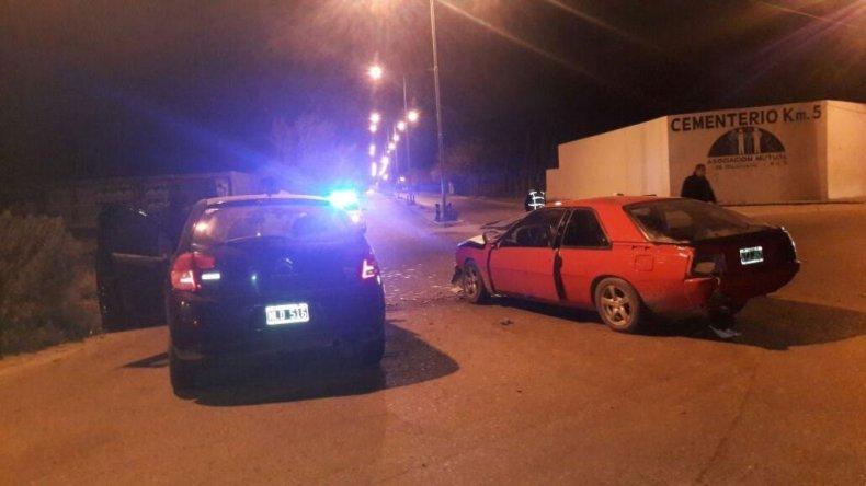 Choque frontal en Km5: ambos conductores dieron positivo en el test de alcoholemia