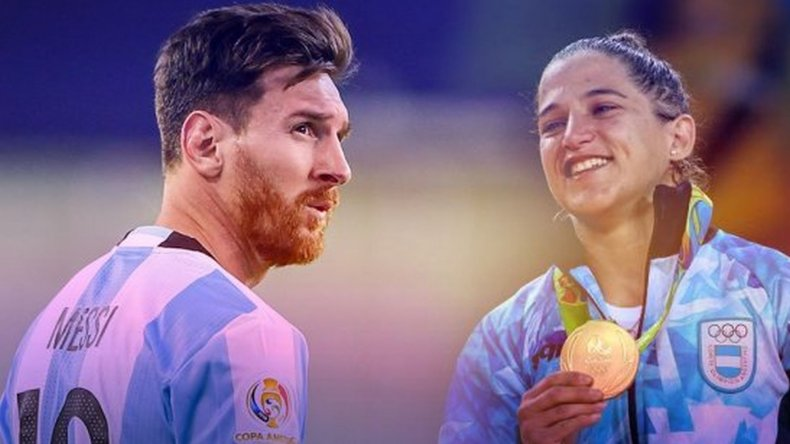 Messi felicitó a Paula Pareto por su medalla de oro