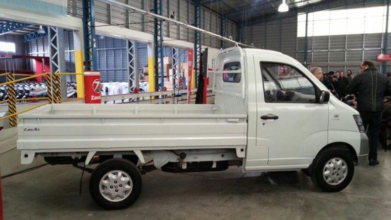 El prototipo del pequeño camión que Zanella espera comenzar a fabricar este año en Mar del Plata.