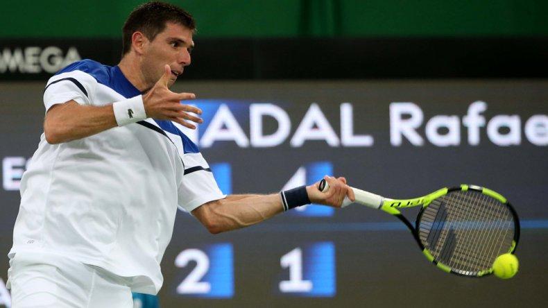Federico Delbonis mucho no pudo hacer ante la superioridad del español Rafael Nadal.