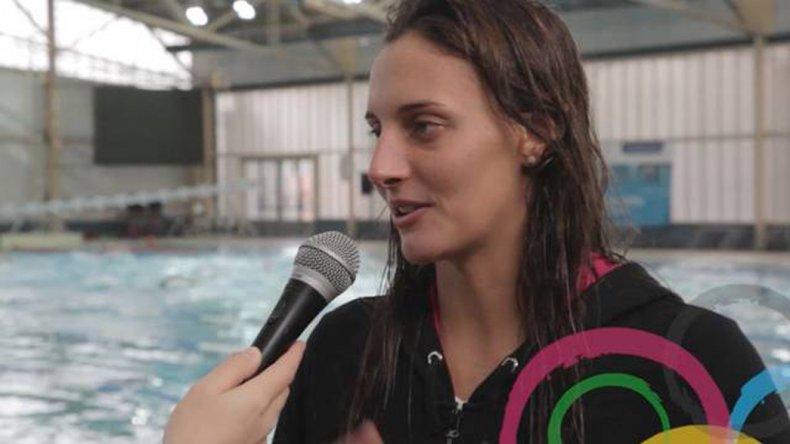 Virginia Bardach lamentó su floja actuación en la pileta del Estadio Acuático.