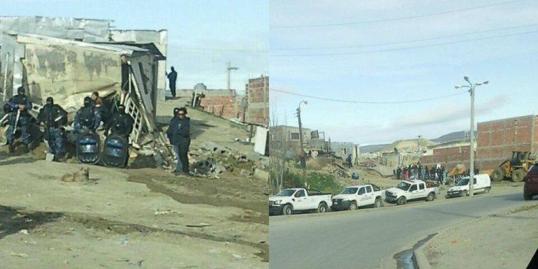 Desalojan una vivienda del barrio Quirno Costa