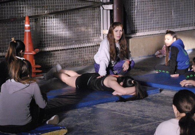 El sábado se realizó una capacitación en gimnasia aeróbica y ritmos