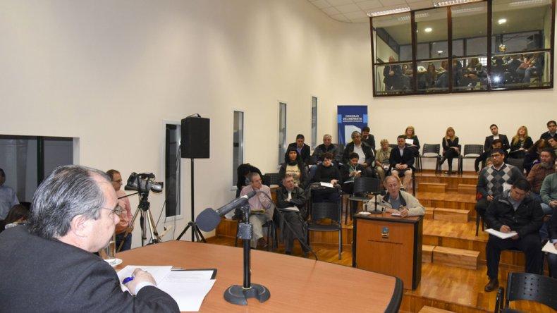 La audiencia que se celebró ayer en el Concejo Deliberante